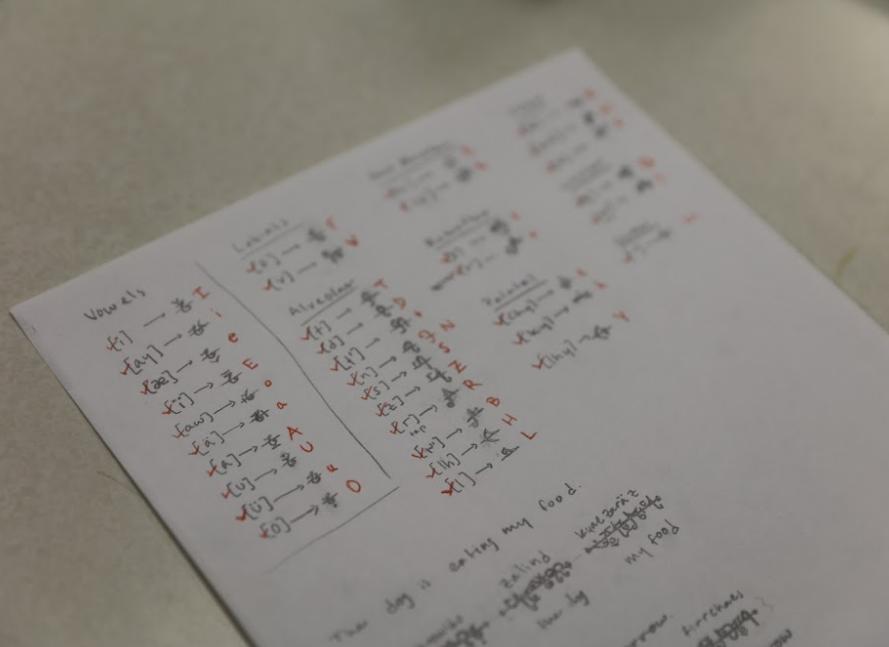 Fosk Conlang image of writing